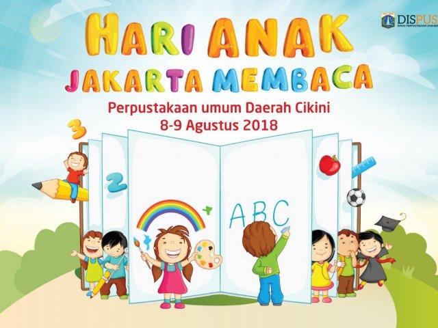 Hari Anak Jakarta Membaca (HANJABA) tahun 2018