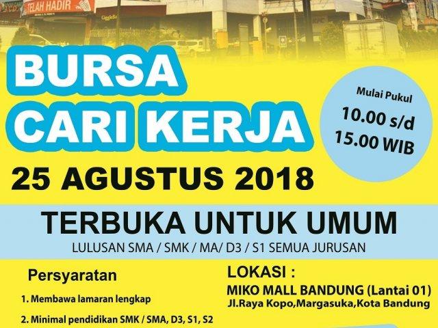 Bursa Kerja Bandung 2018