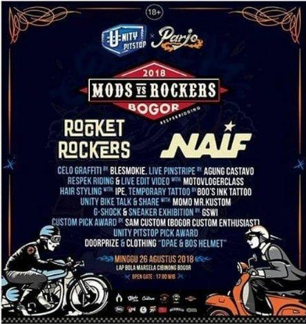 Mods Vs Rockers Bogor 2018