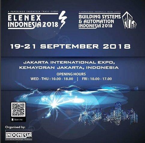 Elenex Indonesia dan Building Systems & Automation Indonesia 2018