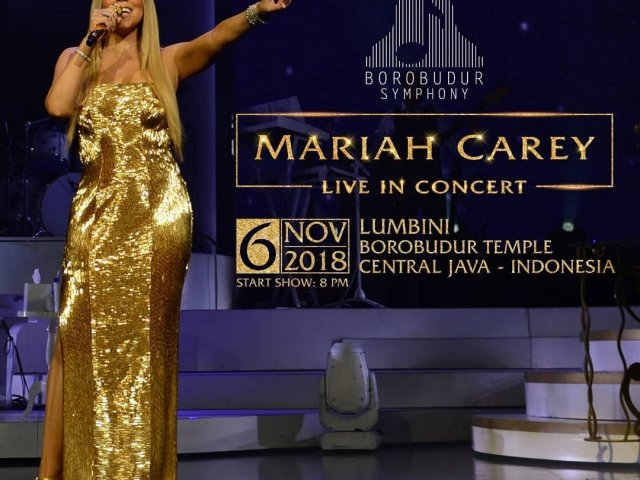 Mariah Carey Borobudur Temple