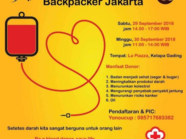 Blood Donation Backpacker Jakarta