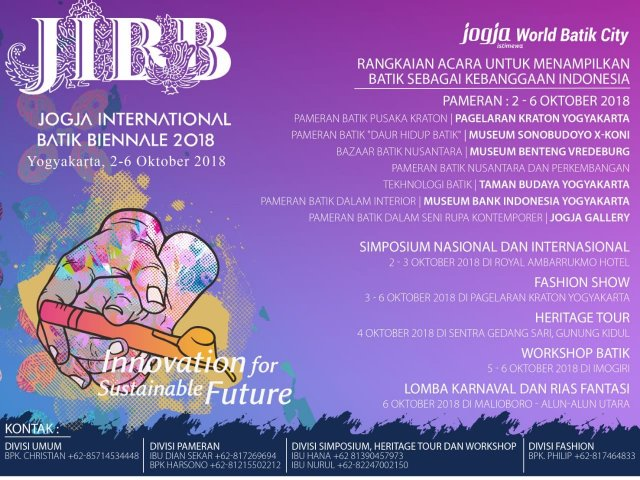 Jogja International Batik Biennale 2018