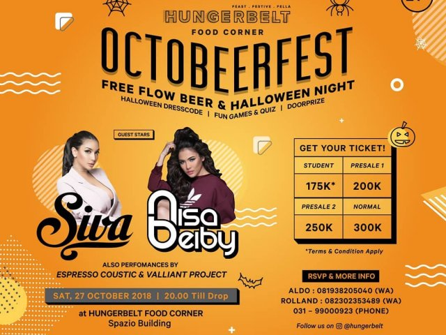 Octobeerfest Free Flow Beer And Halloween Night