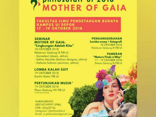 Philosofair UI 2018 Mother of Gaia