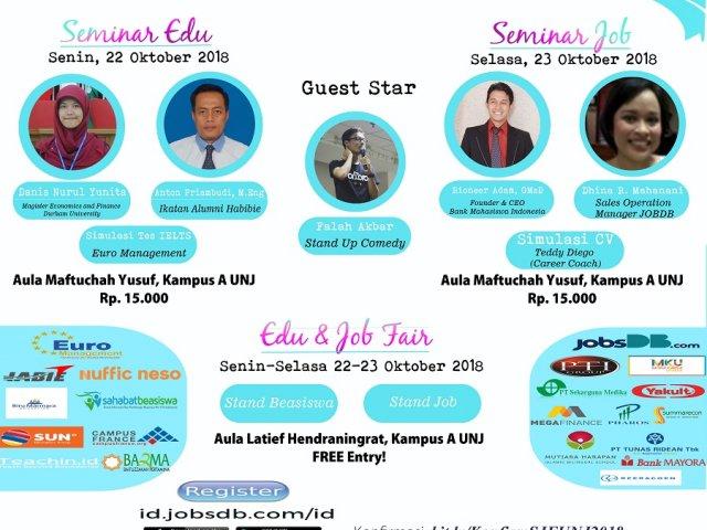 Scholarship and Job Festival UNJ