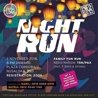 5K Night Run Festival Nusa Loka