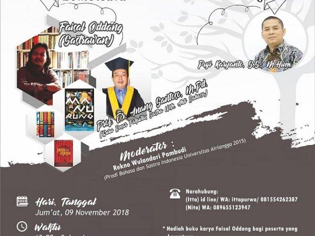 SEMINAR NASIONAL PEKAN BAHASA DAN SASTRA 2018