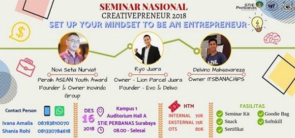 Seminar Nasional Creativepreneur 2018