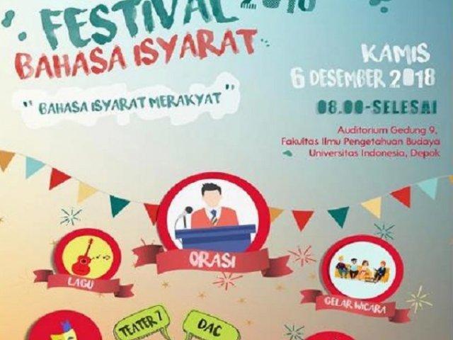 Festival Bahasa Isyarat 2018