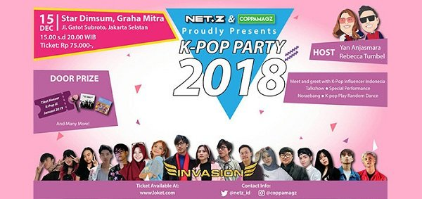 NET.Z X COPPAMAGZ KPOP PARTY 2018