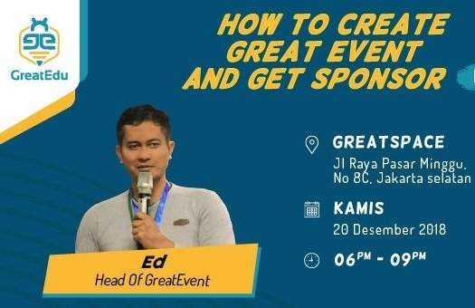 GreatTalk: How To Create Great Event And Get Sponsor