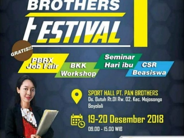 Pan Brothers 1st Festival 2018