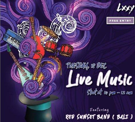 Live musik At Lxxy Bali