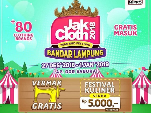 JakCloth Year End Sale Lampung 2018