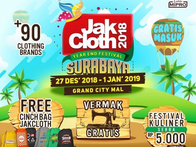 JakCloth Year End Sale Surabaya 2018