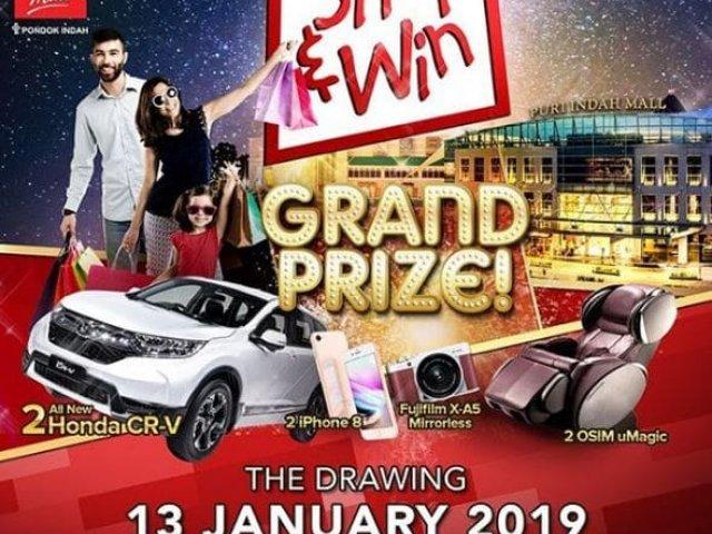 Shop & Win Grand Prize Puri Indah Mall