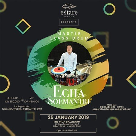 Master Class Drum with Echa Soemanteri