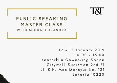 Public Speaking Master Class with Michael Tjandra