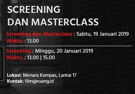 Screening & Masterclass Film Nyai, A Woman from Java