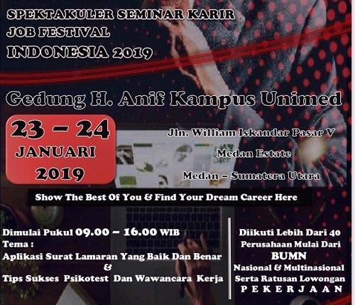 UNIMED Spektakuler Seminar Karir Job Fest