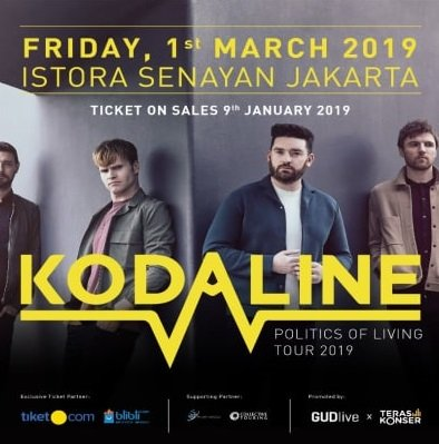 KODALINE POLITICS OF LIVING TOUR 2019