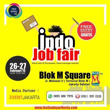 Indo Job Fair festival nyarikerja