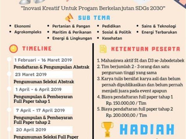 Lomba Karya Tulis Ilmiah Ristekfair 2019