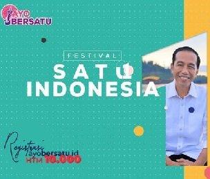 Festival satu indonesia - Jokowi Bicara