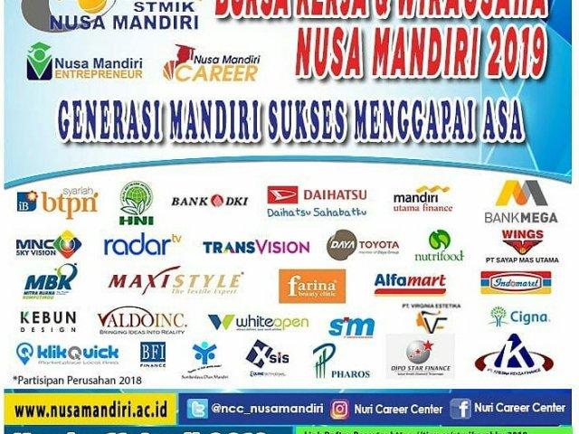 Bursa Kerja & Wirausaha STMIK Nusa Mandiri