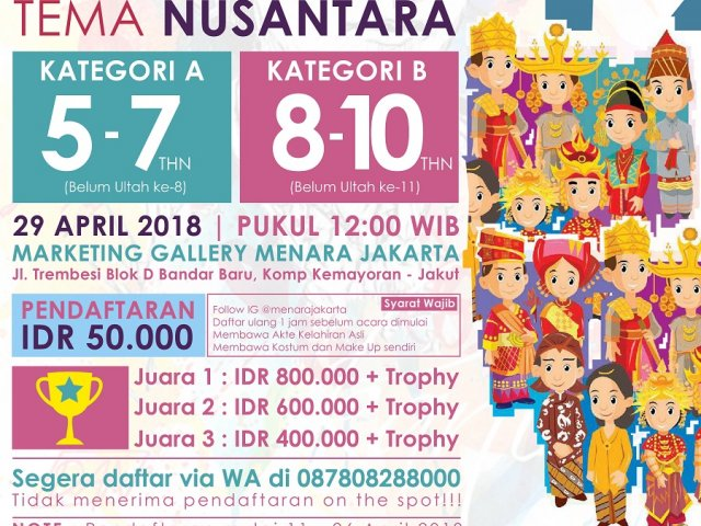 Lomba Fashion show Anak dan Jajajan Goceng