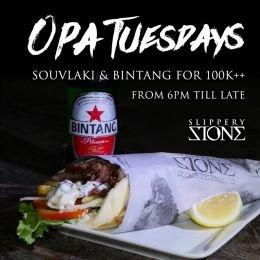 Opa Tuesdays at Slippery Stone Bali