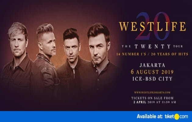 WESTLIFE The Twenty Tour Live in Indonesia 2019