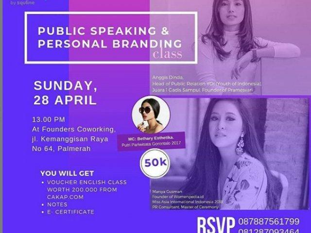 """Public Speaking & Personal Branding"