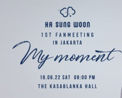 Ha Sung Woon 1st FanMeeting