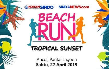 Beach Run Tropical Sunset