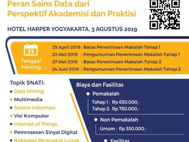 Seminar Nasional Aplikasi dan Teknologi Informasi (SNATi) 2019