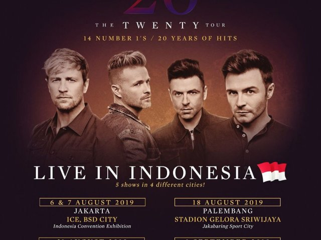 Westlife 20 Tour palembang