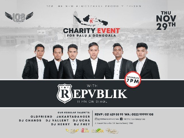 Charity Event for Palu & Donggala with Repvblik
