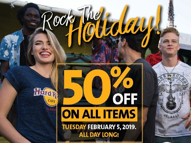 ROCKIN' HOLIDAY 50% DISCOUNT